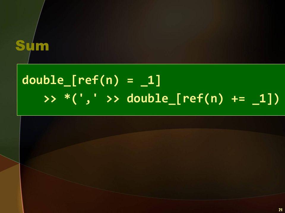 Sum double_[ref(n) = _1]